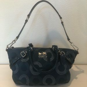 COACH MADISON DOTTED SATCHEL RARE TEAL COLOR